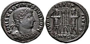 CONSTANTINE II (330-335 AD) Ae3 Follis. Thessalonica #CA 7682