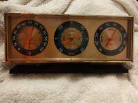 Vintage Springfield Barometer Weather Station Thermometer Barometer Desk US