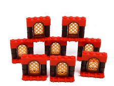 LEGO Arch Windows pour PRINCESS HOUSE Castle (Pack de 8) Red Gold Brown *