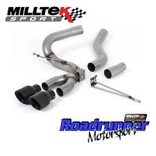Milltek Focus ST Exhaust MK3 Diesel 2.0TDCi Cat Back Black GT100 Tails SSXFD202