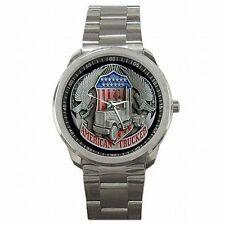 Trucker American Truck Driver USA Stainless Steel Watch