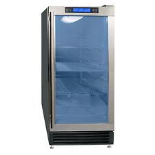 "Maxx Ice 14.5"" Built-In Undercounter Glass Door Beverage Center Cooler w/ Led"
