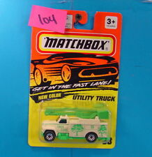 B104 MATCHBOX MB-33 UTILITY TRUCK MINT ON CARD WHITE & GREEN TREE CARE