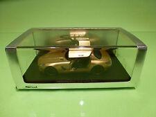 SPARK 1:43  MERCEDES BENZ SLS AMG 2009 GOLD - ORIGINAL BOX - IN MINT CONDITION