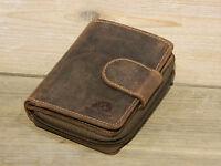 Greenburry Leder Geldbörse Damen Portemonnaie Reißverschluss braun 1792-25