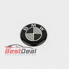CARBON FIBRE BMW 45 mm STEERING WHEEL BADGE BLACK EMBLEM LOGO 1 3 5 SERIES
