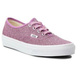 Vans Authentic Lurex Glitter Pink White VN0A38EMU3U women's shoe sneaker casual