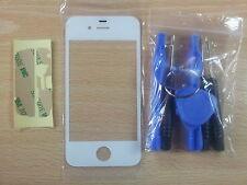Vetro di Schermo Capacitiva BIANCO per Apple Iphone 4S + Adesivo + Strumenti