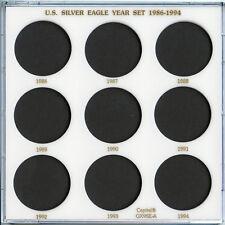 Capital Plastic 9-Coin Holder U.S. Silver Eagle Year Set 1986-1994 - White