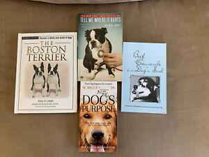 Lot Of Four Dog Books Boston Terrier Plus