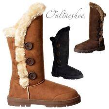 Ella Snow, Winter Block Heel Boots for Women