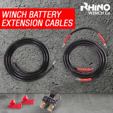 Winch Battery Extension Defender Cables - Heavy Duty -  Isolator - 4 Meters