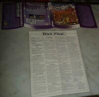 BLACK MAGIC 1987 DATASOFT MULTI MANUAL ESPAÑOL COVER UK CBM AMSTRAD SPECTRUM