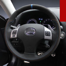 For Lexus IS250 2015 year Car Steering Wheel Stitch on Wrap Cover Black leather