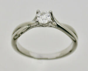 Hearts On Fire Simply Bridal Platinum Diamond Solitaire Ring DD4070 W/ Papers