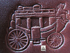 """New listing Craftool Co. Usa Western Horse Drawn Carriage Stagecoach 1"""" Leather Stamp 8481"""