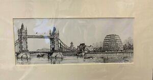 GEORGE FANSHAWE - Tower Bridge & City Hall - Signed by the artist