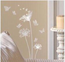 Silver Main Street Wall Creations Dandelions & Butterflies Wall Stickers, Decals