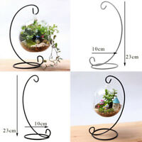Iron Hanging Lantern Stand Hanger Hook Glass Globe Succulent Vase Holder Craft