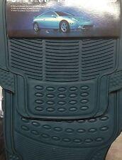 SET 4 TAPPETINI UNIVERSALI PVC / CAR MATS PER AUTO  IN PVC BLU COLORE