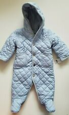 Ralph Lauren Polo Baby Boys Bunting Snowsuit Quilted Blue 6 Months NWT