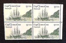 US JAMES COOK, HAWAII 13c1978, 4-Stamp Block, Used, See Descr, Scott1733   PB17