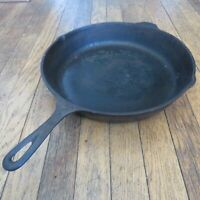 Vintage Lodge 12SK Early Cast Iron Skillet Three Notch