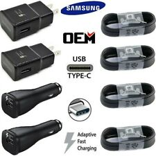 Original Samsung Galaxy S8 S9 S10+ Note 10 9 OEM Fast Wall Charger Type-C Cable