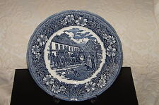"""Royal Tudorware Blue 10"""" Collectors Plate,Coaching Taverns 1828 by W.N. Mellor"""