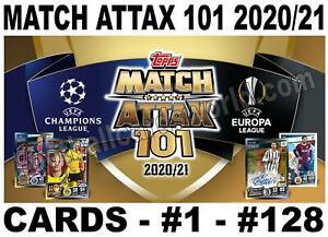 MATCH ATTAX 101 2020/21 2020-2021 20/21 BASE CARDS  # 1 - #128