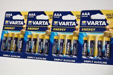 16x VARTA ENERGY Batterien AAA Micro 4103 Alkaline 1,5V LR03 4er Blist MHD 12/22