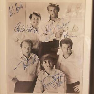 Beach Boys Autographed 1964 Photo All 5 Dennis Wilson