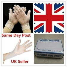 Vinyl Disposable Gloves Powder & Latex Free Strong White Food Medical All Sizes