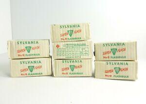 Lot of 7 Vintage Sylvania No. 0 Super Flash Flashbulbs