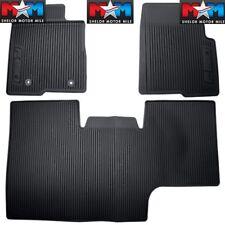 2010 thru 2014 Ford F-150 OEM Black Rubber Floor Mat 3-pc Crew Cab w/ Sub-Woofer