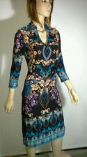 QUEENSPARK Size S Multi Print Shirt Dress Matching Belt NEW w/Tags RRP $169.95