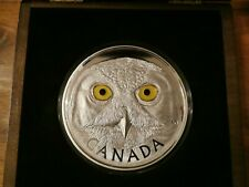 2014 $250 Canadian Dollar 'In The Eyes Of The Snowy Owl'- Pure Silver Kilo Coin