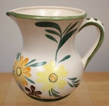 Vintage JAPAN RELPO Ceramic Pitcher 1977 Hand Painted Yellow Flowers
