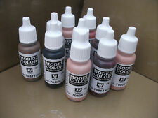 CHOOSE ANY 8 X 17ml VALLEJO MODEL COLOR ACRYLIC PAINTS  INCLUDES PRIMERS + AUX