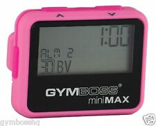 GYMBOSS miniMAX INTERVAL TIMER AND STOPWATCH PINK PINK SOFTCOAT FROM GYMBOSS HQ