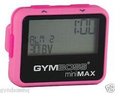Gymboss Minimax Temporizador de intervalos y cronómetro Rosa Rosa softcoat de Gymboss Hq