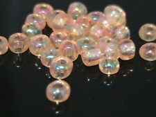30g x 6/0 Golden Ab Opaque Glass Seed Beads Approx 4mm Craft Jewellery Q88