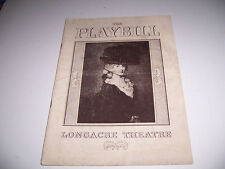 1938 LONGACRE THEATRE PLAYBILL - ON BORROWED TIME -LEWIS SHEFFIELD DUDLEY DIGGES