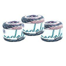 Lion Brand Yarn 551-213 Mandala Ombre Yarn, Felicity (Pack of 3 cakes)