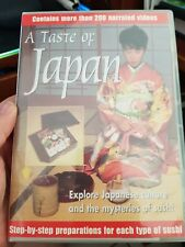 A Taste of Japan - 200 Videos how to Make Sushi -  PC CD ROM - FREE POST