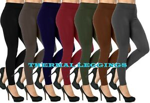 LADIES THICK THERMAL WARM LEGGINGS WITH FLEECE LINING & TUMMY CONTROL SIZE 8- 14