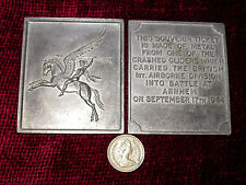 Replica Copy WW2 Airborne Pegasus Arnhem 'Ticket' Plaque moulded from original