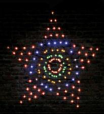 Multi Colour Solar LED Star Net Light Outdoor Garden Christmas Display Flashing