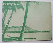 Thanksgiving Day  Menu For The Pacific Air Forces Base Command 1959