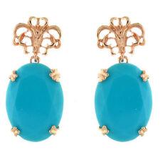 Aquamarine Drop/Dangle Stone Costume Earrings